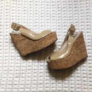 Steve Madden women's platform heels beige size 10